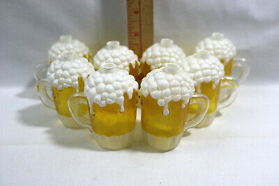 Vtg Beer Mug Blow Mold Patio Party RV Deck Camping String Light COVERS ONLY