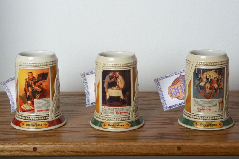 Historic Budweiser Advertising Series I,II,III with COAs
