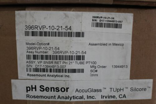 ROSEMOUNT ANALYTICAL TUpH 396RVP pH/ORP SENSOR MODEL: 396RVP-10-21-54