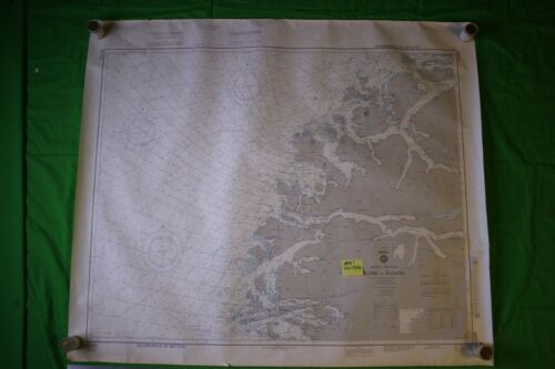 Norway West Coast Floro To Alesund 41x35.5 Vintage 1989 Nautical Chart/Map