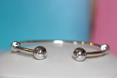 Authentic Pandora Open Bangle Bracelet 596477  You Choose Size  Hinged Box S925