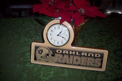 NFL Oakland Raiders Chrome Clock 13 1/2