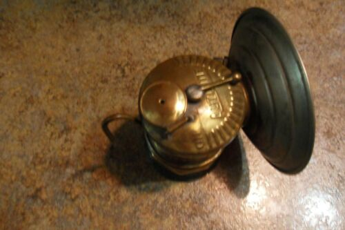 Vintage Antique Auto Lite Universal Lamp Co Brass Carbide Coal Miner