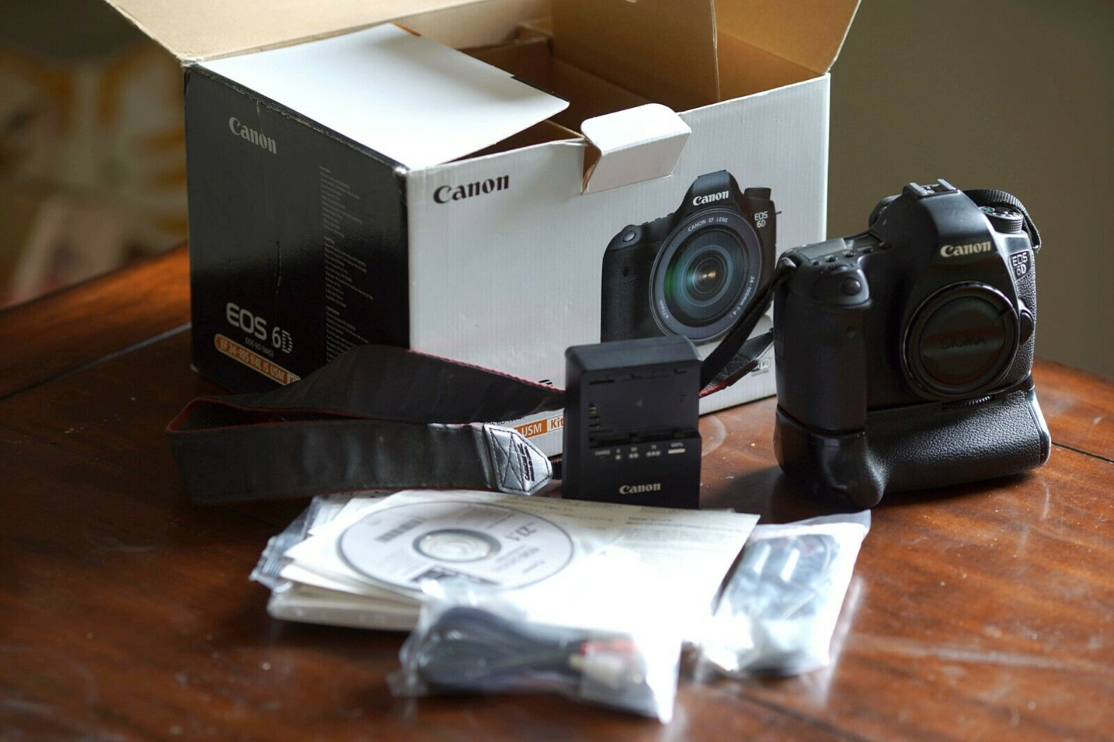 Canon EOS 6D 20.2MP Digital SLR Camera - Black Body Only - AS-IS For Parts - $208.50
