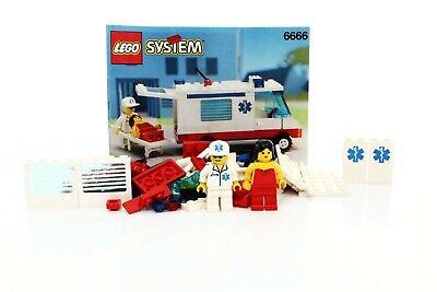 Lego Classic Town Hospital Set 6666 Ambulance 100% complete + instructions 1994