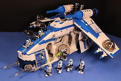 LEGO® brick STAR WARS™ PHASE II 501st BLUE REPUBLIC GUNSHIP CUSTOM SET 100% LEGO