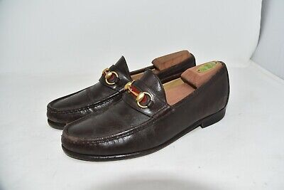 Vtg Gucci Horsebit Loafer Brown Italy Shoes MEN'S SZ 8 D