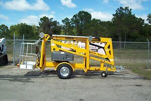 Haulotte 3522A 43' Towable Boom Lift, 20' Outreach,Made in USA,Former Bil Jax