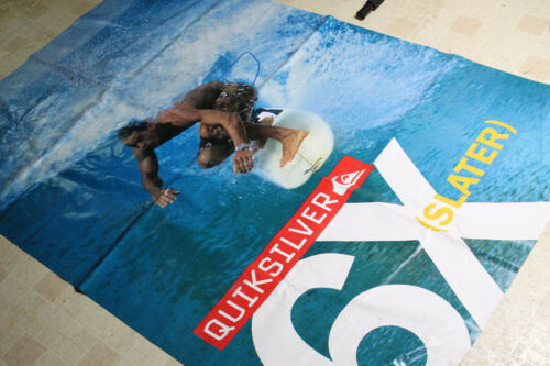 Vintage Kelly Slater Quiksilver 6x Vinyl Poster Banner 48 x 72 Huge Surfing
