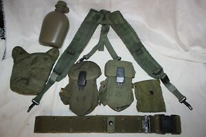 US Military Issue Alice Field Gear Belt Suspenders Ammo Pouches Canteen Set Lot