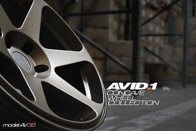Avid1 AV38 18x8.5 +35 18x9.5 +38 5x114.3 Matte Bronze Staggered (Set of 4)