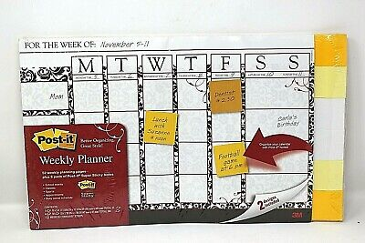 Post It Sticky Notes 52 Weekly Planner Sheet Calendar Organizer New Factory Seal