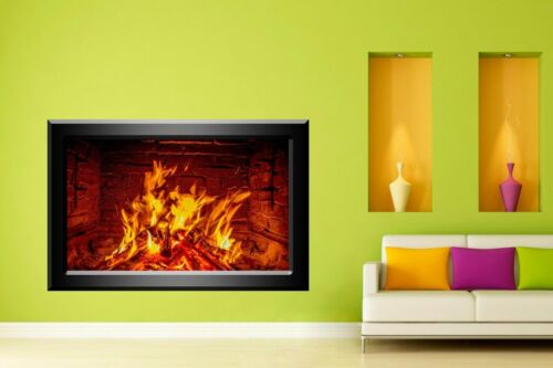 Home Decoration - Fireplace Decorative Wall Stickers Mural Decal Home Living Dining Room Decor N1