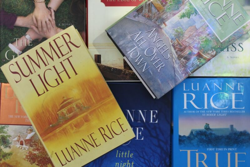Lot of 5 Luanne Rice Hardcover Books MIX