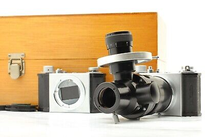 Exc3rare Olympus Microscope Camera Pa-3 Pm-7 With Box Japan 676a