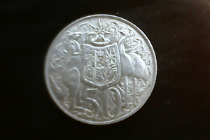 Round silver 50c coin 1966 Bellevue Swan Area Preview