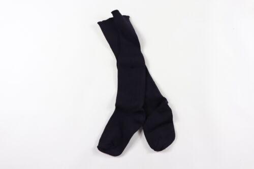 Vintage 80s Sarna Youth Nylon Running Jogging Soccer Tall Socks Navy Blue