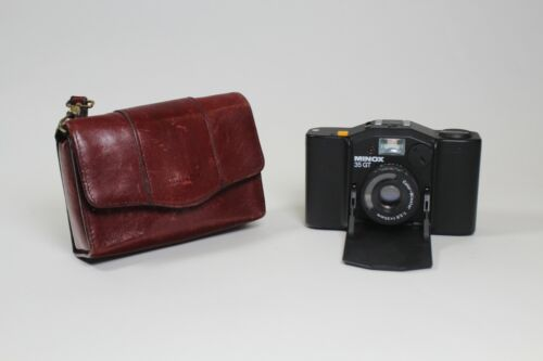 Minox 35 Series Genuine Burgundy Leather Case Only Very Good Condition RARE