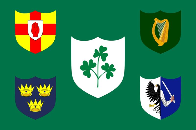 Ireland Rugby Flag - Large 5 x 3