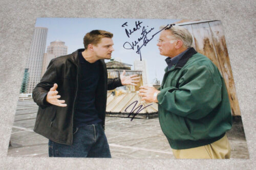 LEONARDO DICAPRIO MARTIN SHEEN DUAL SIGNED 'THE DEPARTED' 11X14 PHOTO w/COA LEO