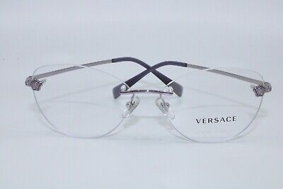 Versace VE1248-B 1029 Round Rimless Eyeglasses New Authentic 54