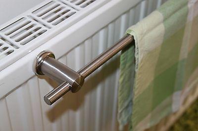 Edelstahl Handtuchhalter 80 cm Magnet Halterung für Heizkörper Handtuchstange