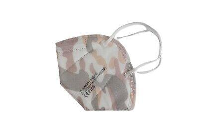 5 Stk • FFP2-Maske CAMOUFLAGE (bunt) • mit Schaumstoff-Nasenauflage • PREMIUM