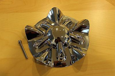 KMC SS Chrome Wheel Rim Center Cap 255L190 1000820 w/ Screw - Kmc Chrome Wheels