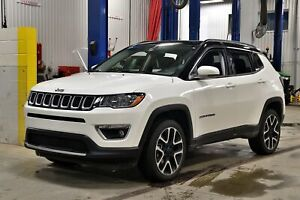 2018 Jeep Compass LIMITED * 4X4 * TOIT PANO * GPS * CUIR *