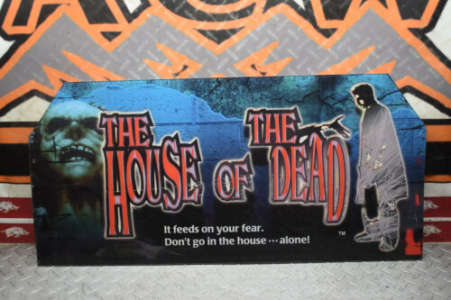 F4-9 THE HOUSE OF THE DEAD SEGA ARCADE MACHINE OG MARQUEE GLASS TOP FREE SHIP