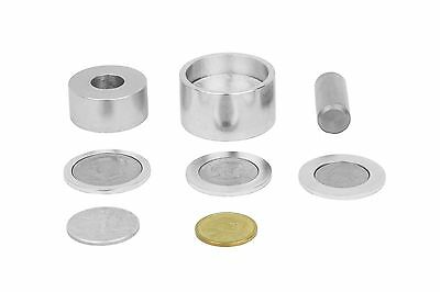 "Coin ring punch and die set (5/8"" hole) with 3 spacers."