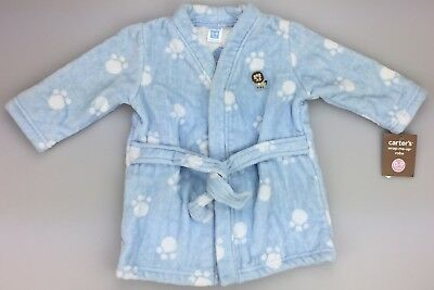 - NEW CARTERS Wrap-me-up TERRY CLOTH Bath ROBE (baby boys 0-9M) Light Blue Lion