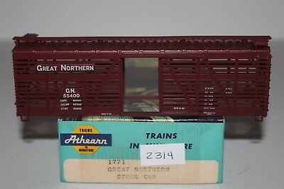 HO Scale Athearn 1771 Great Northern 40' Stock Car Kit 55400  L2314