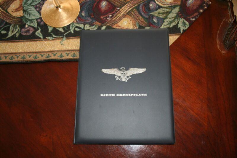 New Dark Navy Blue Birth certificate holder/keepsake