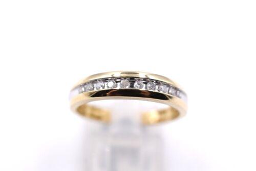 Mens Yellow Gold Channel Set Diamond Wedding Band .25ct Sizable