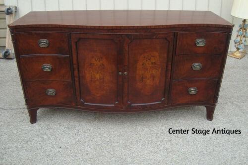 61147 Inlaid Mahogany Buffet Sideboard Server Cabinet