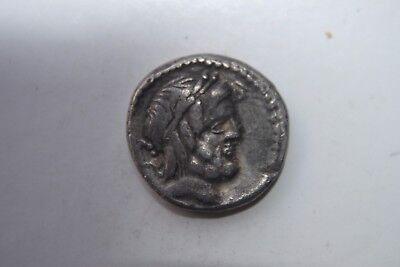 ANCIENT ROMAN REPUBLIC SILVER DENARIUS COIN 1st CENTURY BC