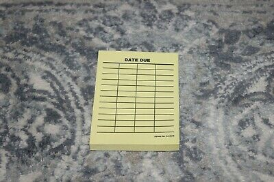 Post-it Date Due Slips 4 Columns - 4 H X 3 W 100 Library Supplies Yellow Cards