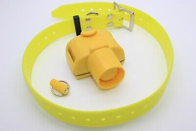 Adjustable Hunting Dog Beeper Training 8 Modes Sound Waterproof Yellow -