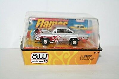Rare 2011 Auto World Flames 62 Chevy Bel Air HO Slot Car Release 8 Car 44