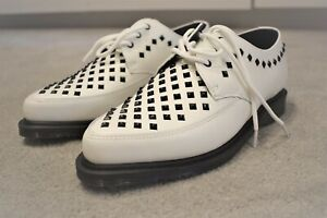 f90b48801f Dr. Martens UNISEX Willis Shoes UK 11 White Rousden Creepers Lace Up Leather
