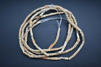 Ancient Egyptian Coptic period terracotta bead necklace C. 3rd - 4th century AD