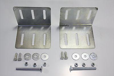 Halter Haltersatz Gurtbox Daken Blackit Staubox Anhängerbox Gurtkiste Hängerbox