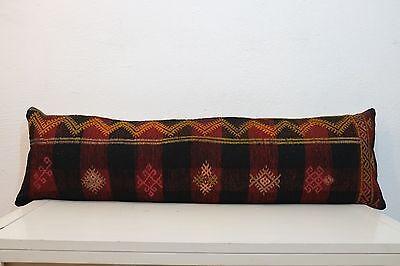 12''x40''Bohemian Bedding Kilim Pillow Cover,Handmade Hippie Bed Pillow Boho