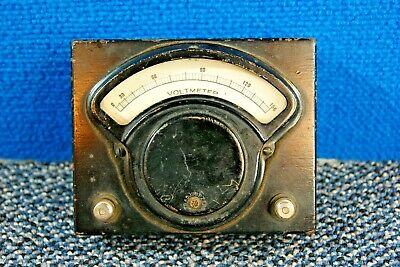 Hoyt Vintageantique Wood Ac Voltmeter 0-150vac Tested Working