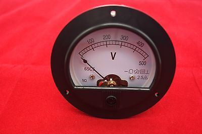 Dc 0-500v Round Analog Voltmeter Voltage Panel Meter Dia.90mm Direct Connect