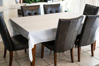 Plastic Tablecloth White  12 pack   Heavy Duty   54 in X 108 in BEST