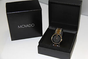movado mens watch two tone movado museum mens two tone 40mm classic watch 07 1 20 1198 975