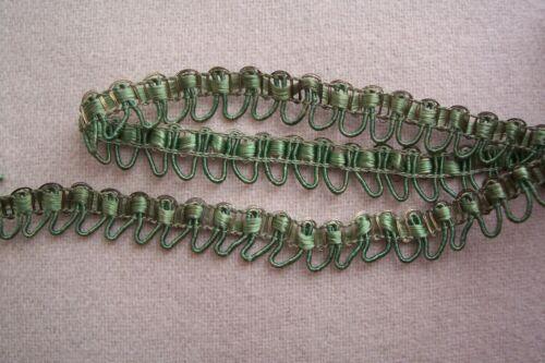 Vtg Antique Victorian Edwardian BEAUTIFUL GREEN  Metallic LACE  Trim