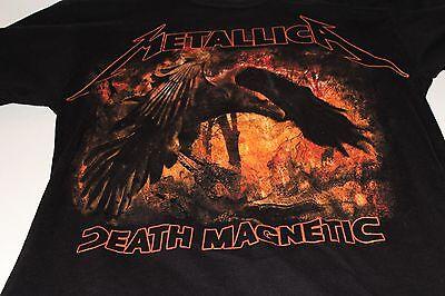 METALLICA DEATH MAGNETIC RAVEN BLACK T-SHIRT SIZE MEDIUM